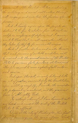 president lincoln and the emancipation proclamation essay On january 1, 1863, lincoln issued his final draft of the emancipation proclamation the transcription of this final draft includes notes that discuss the history and.