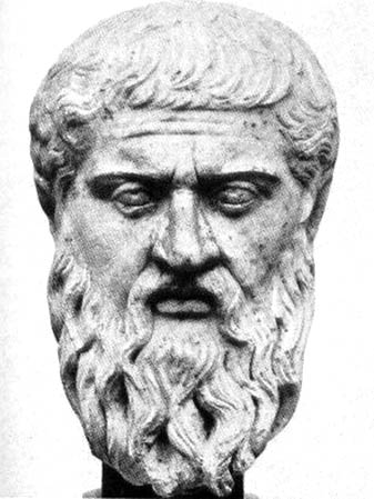 Bust of the great greek philosopher plato