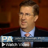 Click to watch an interview with Bucknell President John Bravman