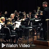 Click to watch a video of a Bucknell symphonic band concert
