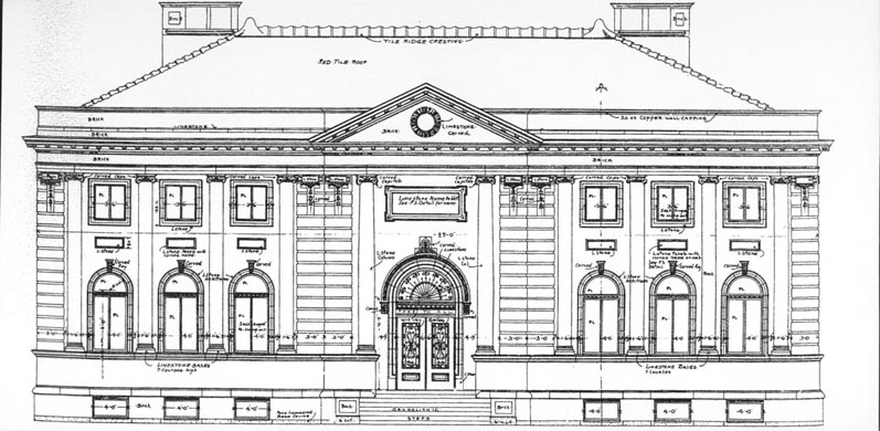 100 years carnegie the carnegie building blueprint blueprint free public library schenectedy new york opened in 1903 note the similarity in design to our carnegie building malvernweather Image collections