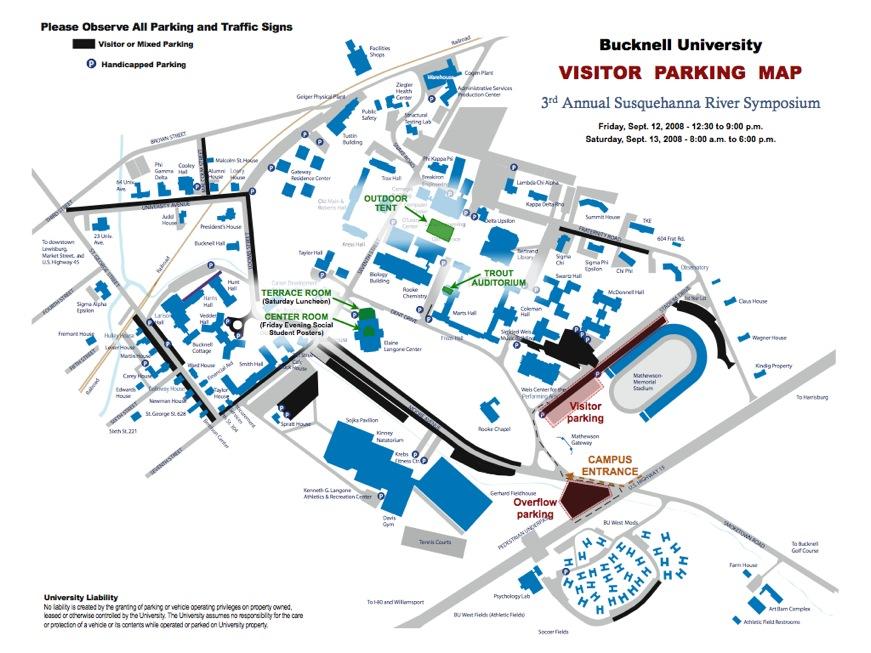 Susquehanna Campus Map.Susquehanna River Symposium Sept 12 13 2008